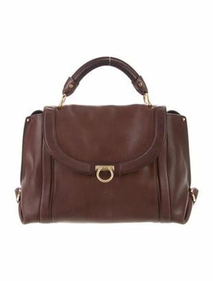 Salvatore Ferragamo Leather Handle Bag Brown