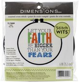 Dimensions Crafts 72-74049 Faith Stitch Wit Counted Cross Stitch Kit