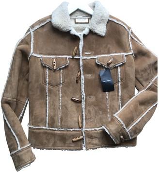 Saint Laurent Camel Shearling Coats