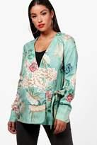 boohoo Maternity Kerry Oriental Wrap Blouse