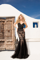 Terani Evening - Sleeveless Black Beaded Sweetheart Mermaid Gown 1621GL1902