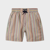 Paul Smith Boys' 2-6 Years Swimming Shorts With Signature Stripe Print