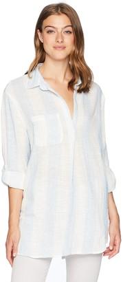 En Creme Women's Woven Shirt Dress