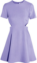 Elizabeth and James Leonie Cutout Stretch-Piqué Mini Dress