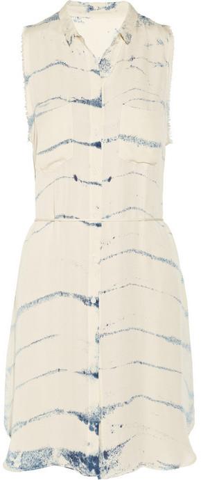 Raquel Allegra Tie-dye silk-georgette dress