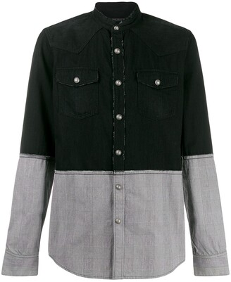 Balmain bi-colour shirt