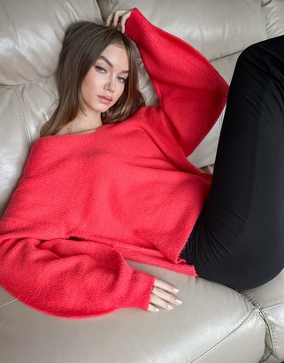 Threadbare fluffy balloon sleeve jumper