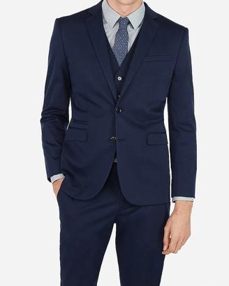 Express Slim Navy Cotton Blend Performance Stretch Suit Jacket