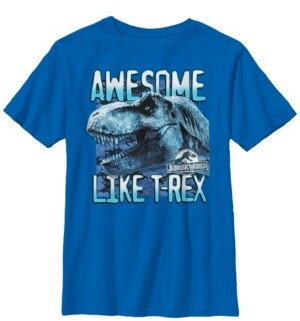 Fifth Sun Jurassic World Two Big Boys Awesome Like T-Rex Short Sleeve T-Shirt