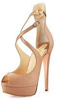 FSJ Women Sexy Cross Ankle Straps Peep Toe Pumps Platform Stiletto High Heel Party Shoes Size 5 US