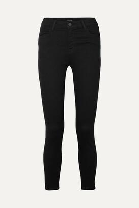 J Brand - Alana Cropped High-rise Skinny Jeans - Black