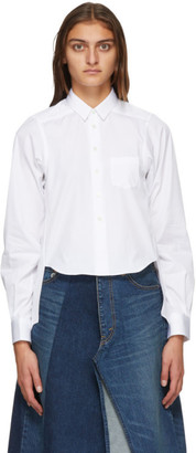 Comme des Garçons Shirt White Droptail Shirt