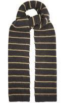 Brunello Cucinelli Embroidered-stripe cashmere scarf