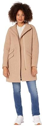 J.Crew Cocoon Coat in Italian Stadium-Cloth Wool (Sandstone) Women's Coat
