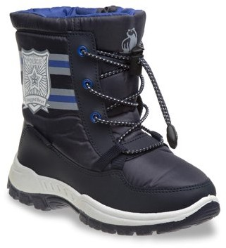 Rugged Bear Striped Snow Boot with Adjustable Tie (Toddler Boys)