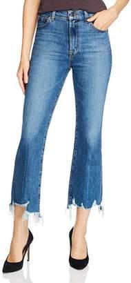 J Brand Julia High-Rise Flared Jeans in Wonderland Destruct