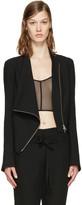 Ann Demeulemeester Black Wool Zip Jacket