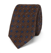 Etro 6cm Wool And Silk-blend Jacquard Tie - Brown