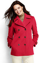 Lands' End Women's Tall Luxe Wool Peacoat-Vicuna