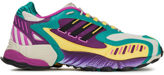 adidas Torsion Trdc Color-block Mesh And Rubber Sneakers
