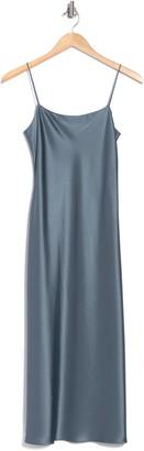 Theory Telson Flat Sateen Slip Dress