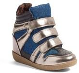 Steve Madden Girl's Jreggo Metallic High Top Sneaker