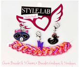 Fashion Angels Pink Woven Charm Bracelet & Charms Set