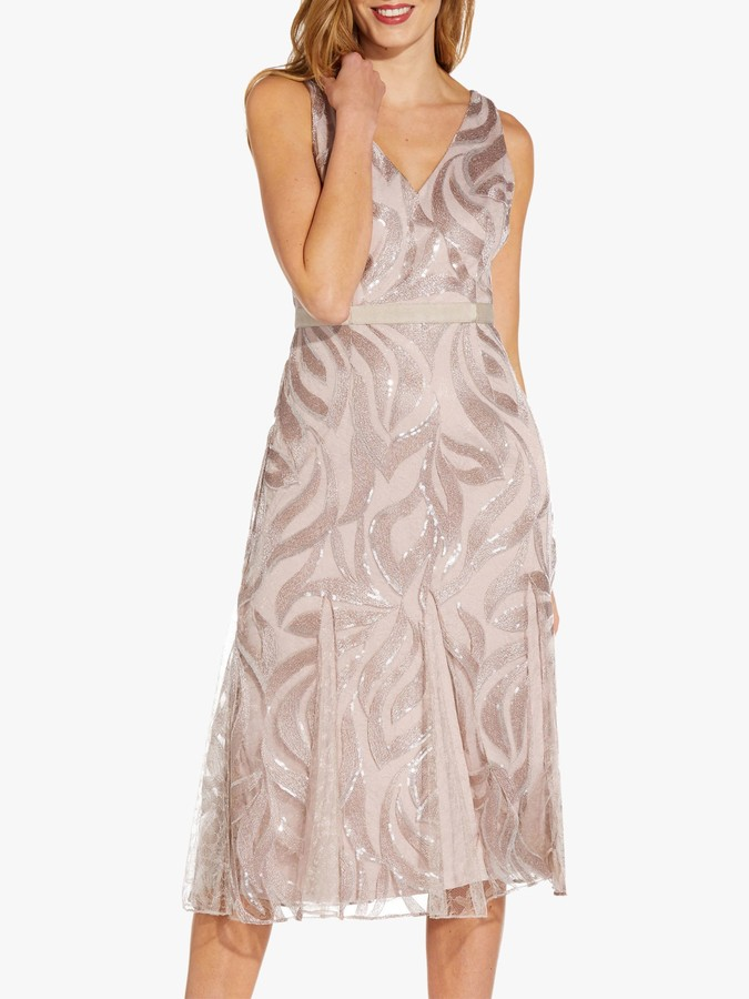 Adrianna Papell Sequin Cocktail Dress, Smokey Blush