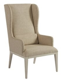 Barclay Butera Newport Upholstered Dining Arm Chair Upholstery Color: Beige, Frame Color: Sailcloth