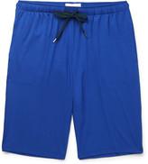 Derek Rose Basel Stretch-micro Modal Jersey Shorts - Royal blue
