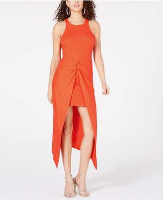 Material Girl Juniors' Rib-Knit Open-Front Overskirt Dress