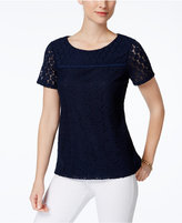 Charter Club Lace Top, Only at Macy's