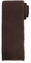 Tom Ford Solid Knit Tie, Gray