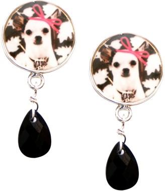 Marc Labat My Little Pets 12H6 Women's Earrings Metal Email Bead