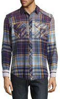 Affliction Multi-Tone Plaid Shirt