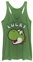 Fifth Sun Women's Tank Tops ENVY - Super Mario Envy Yoshi 'Lucky' Racerback Tank - Women & Juniors