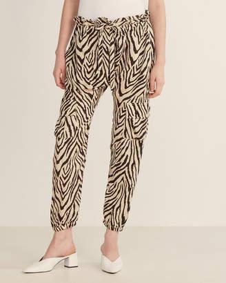 Current/Elliott Roxwell Zebra Print Cargo Drop Crotch Pants