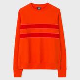 Paul Smith Men's Red Organic-Cotton Textured-Stripe Sweatshirt