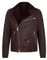 AllSaints Karson Shearling Biker Jacket