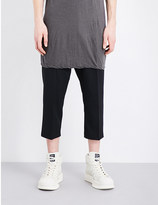 Rick Owens Mid-rise cropped cotton trousers