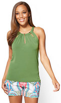 New York & Co. 7th Avenue - Hardware-Accent Halter Top