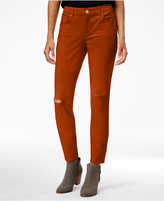 Style&Co. Style & Co. Ripped Colored Wash Skinny Jeans, Only at Macy's