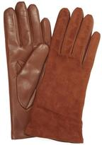 Portolano Suede Topped Nappa Leather Gloves