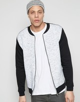 Asos Jersey Bomber Jacket With Slub Panel