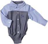 Andy & Evan French Oxford Shirt (Baby) - Navy-18-24 Months