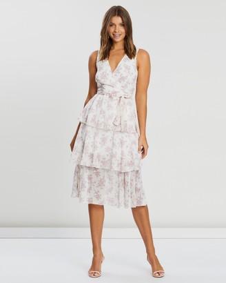 Atmos & Here Three Tier Floral Midi Dress