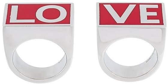 Givenchy dual love ring set
