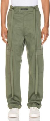 Fear Of God Baggy Cargo Trouser in Army Green | FWRD