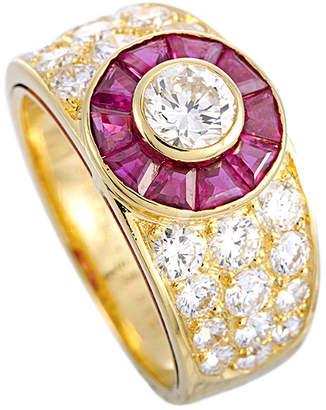 Van Cleef & Arpels 18K 2.72 Ct. Tw. Diamond & Ruby Ring