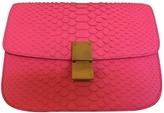 Celine Pink Exotic leathers Handbag Classic
